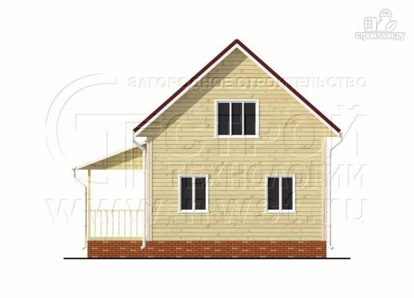 Фото 8: проект дачный брусовой дом 6х8 м с мансардой и террасой
