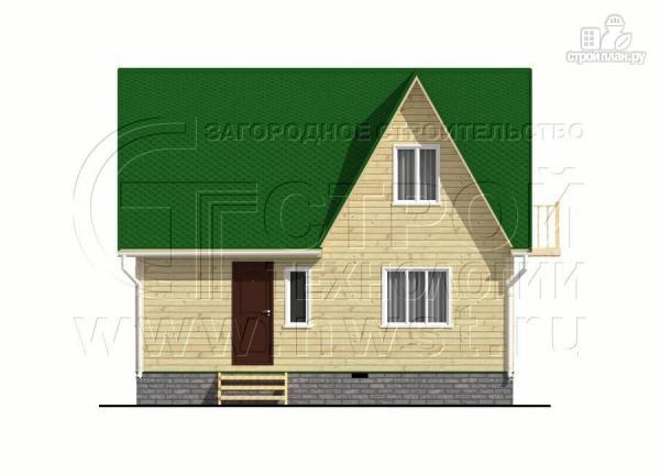 Фото 7: проект дачный дом 6х8 м из бруса с балконом