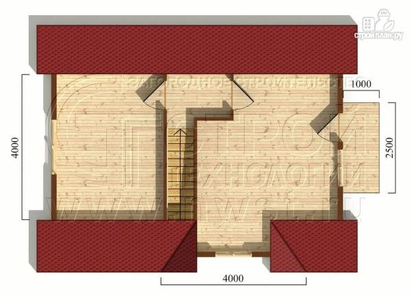 Фото 6: проект дачный дом 6х8 м из бруса с балконом