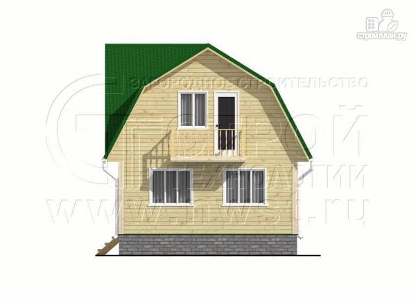 Фото 8: проект дачный дом 6х8 м из бруса с балконом