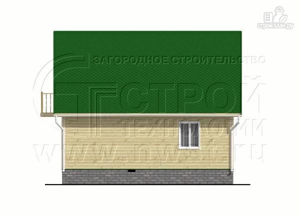 Фото 9: проект дачный дом 6х8 м из бруса с балконом