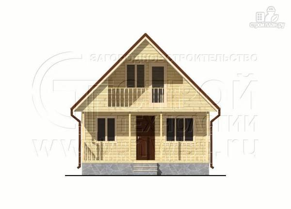 Фото 7: проект дачный дом 6х8 м с террасой и лоджией