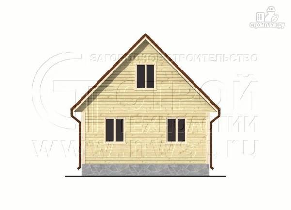 Фото 9: проект дачный дом 6х8 м с террасой и лоджией