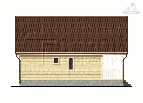 Фото 10: проект дачный дом 6х8 м с террасой и лоджией