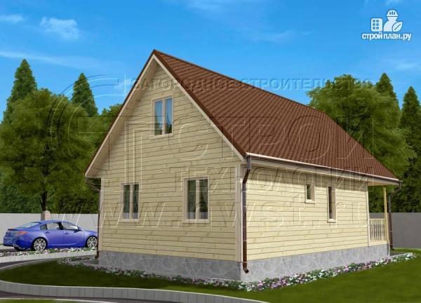 Фото 2: проект дачный дом 6х8 м с террасой и лоджией