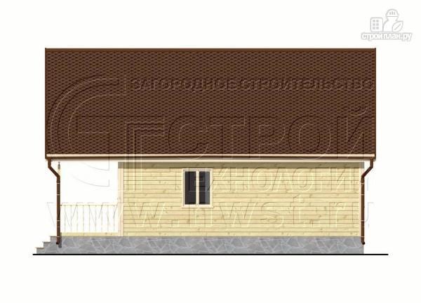 Фото 8: проект дачный дом 6х8 м с террасой и лоджией