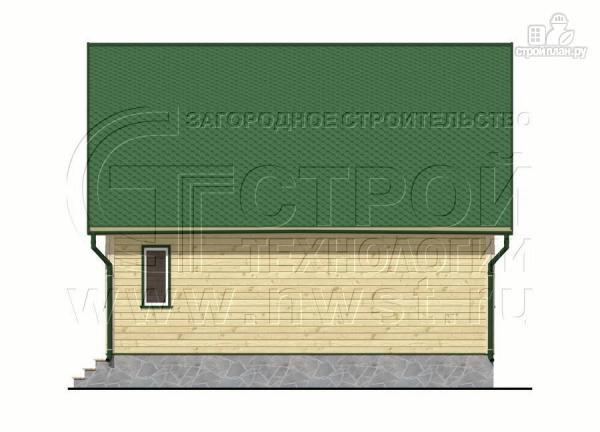 Фото 8: проект дачный дом 6х8 м из бруса с мансардой