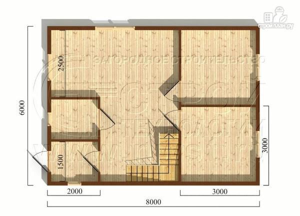 Фото 5: проект дачный дом 6х8 м из бруса с мансардой