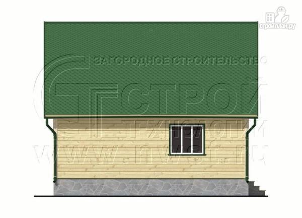 Фото 10: проект дачный дом 6х8 м из бруса с мансардой
