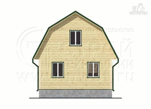 Фото 9: проект дачный дом 6х8 м из бруса с мансардой