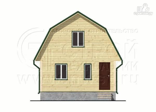 Фото 7: проект дачный дом 6х8 м из бруса с мансардой