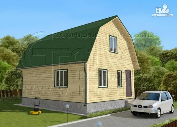 Фото проект дачный дом 6х8 м из бруса с