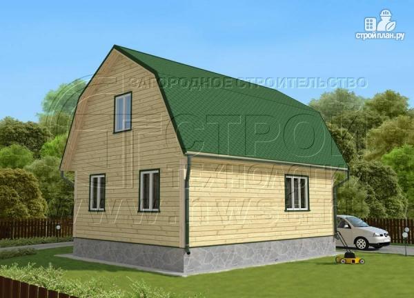 Фото 3: проект дачный дом 6х8 м из бруса с мансардой