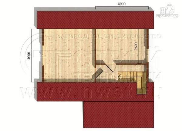Фото 6: проект дачный дом 6х8 м из бруса с террасой9 м2