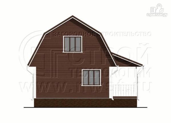 Фото 10: проект дачный дом 6х8 м из бруса с террасой9 м2