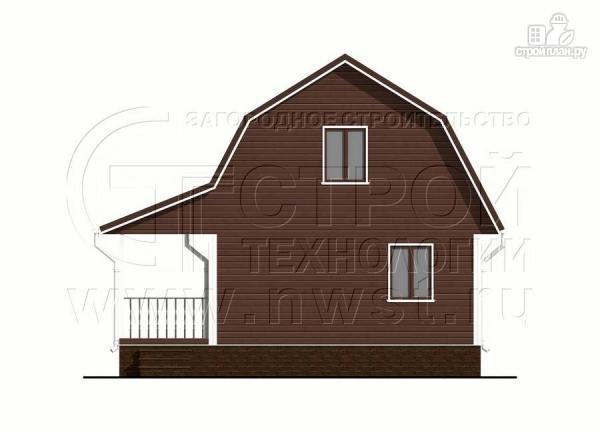 Фото 8: проект дачный дом 6х8 м из бруса с террасой9 м2