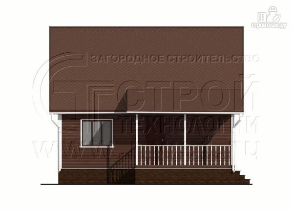 Фото 7: проект дачный дом 6х8 м из бруса с террасой9 м2
