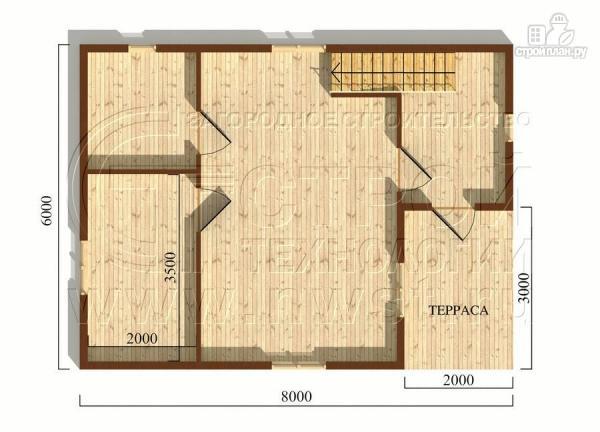 Фото 5: проект дачный дом 6х8 м с крыльцом