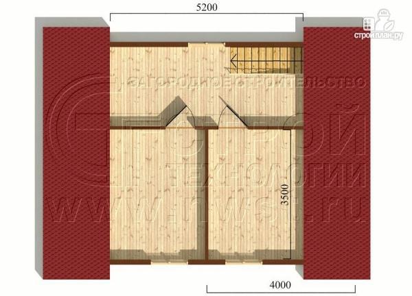 Фото 6: проект дачный дом 6х8 м с крыльцом