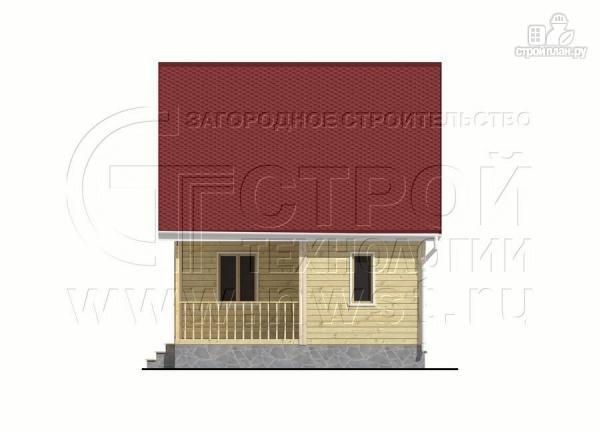 Фото 7: проект дачный дом 6х8 м с крыльцом