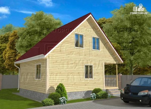 Фото 2: проект дачный дом 6х8 м с крыльцом