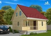 Проект дачный дом 6х8 м с крыльцом