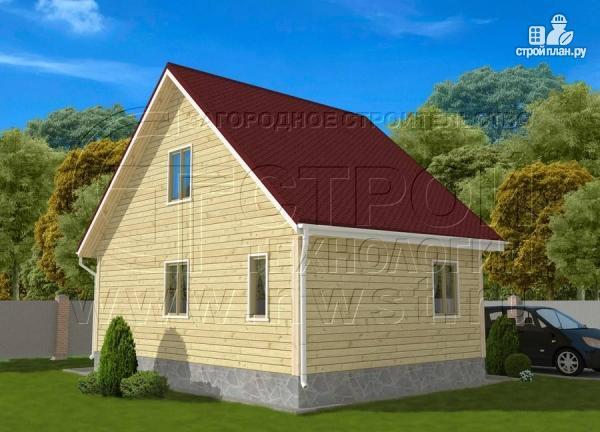 Фото 3: проект дачный дом 6х8 м с крыльцом