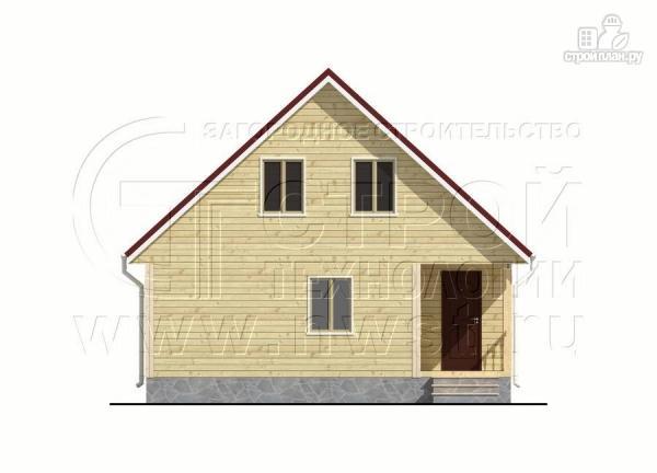 Фото 10: проект дачный дом 6х8 м с крыльцом