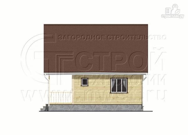 Фото 7: проект дачный дом 6х8 м с мансардой и широкой террасой