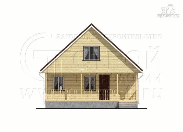 Фото 10: проект дачный дом 6х8 м с мансардой и широкой террасой