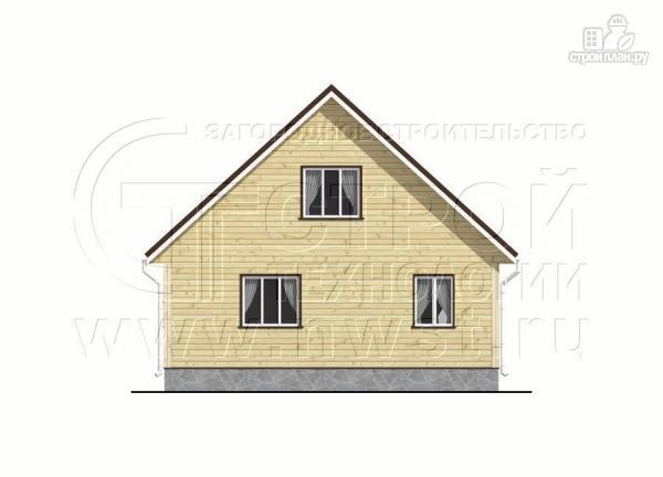 Фото 8: проект дачный дом 6х8 м с мансардой и широкой террасой