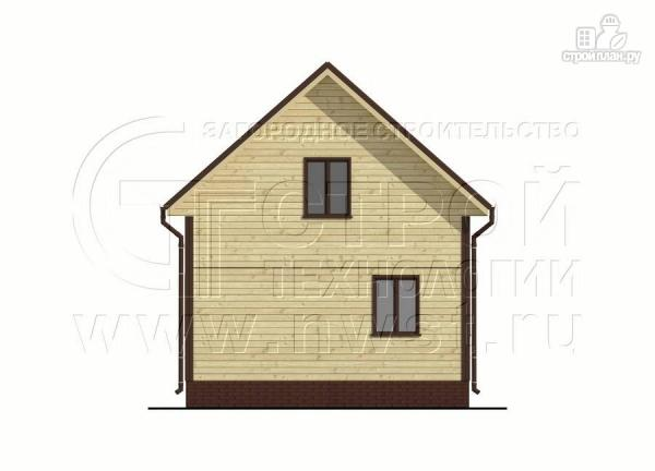 Фото 10: проект дом 6х8 м из бруса с террасой