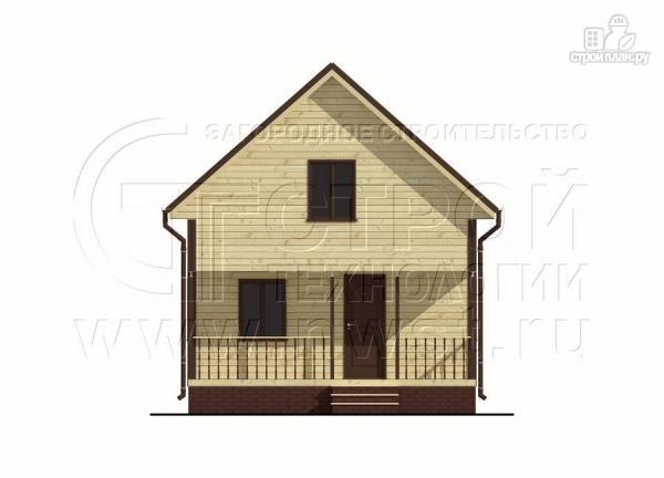 Фото 8: проект дом 6х8 м из бруса с террасой