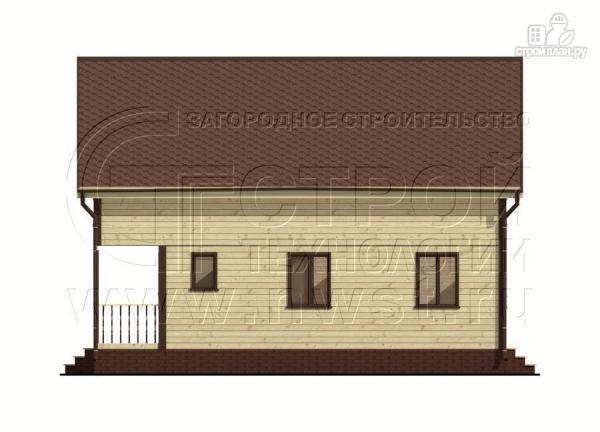 Фото 9: проект дом 6х8 м из бруса с террасой