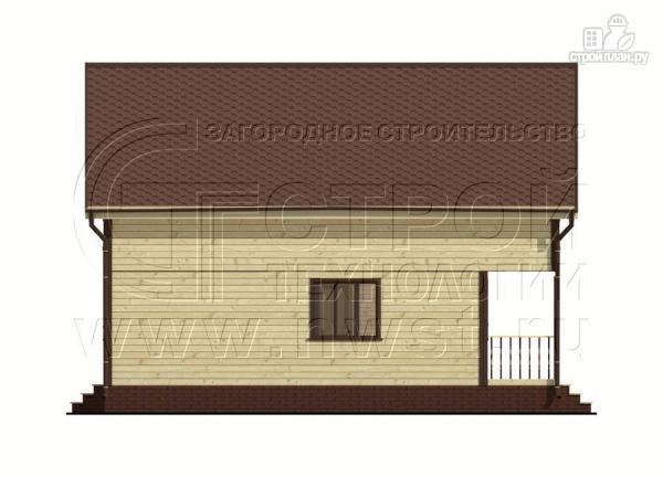 Фото 7: проект дом 6х8 м из бруса с террасой