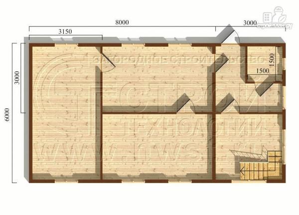 Фото 5: проект дом 6х11 м из бруса