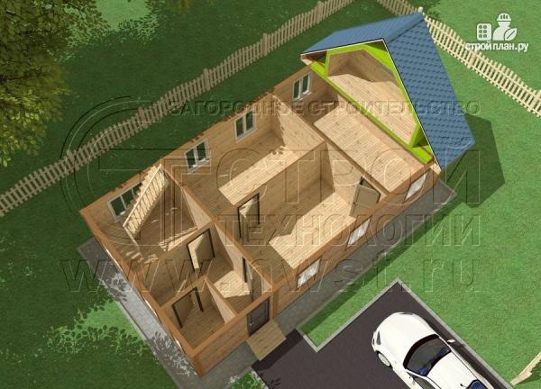 Фото 4: проект дом 6х11 м из бруса