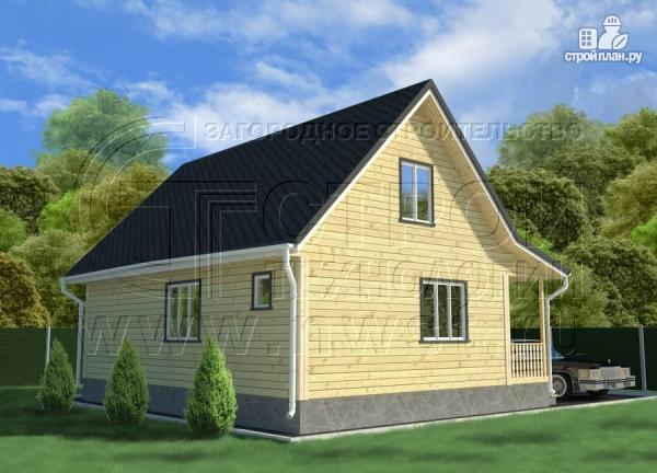 Фото 2: проект дачный трёхфронтонный дом 6х9 м из бруса