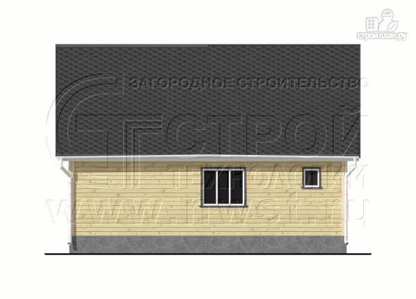 Фото 9: проект дачный трёхфронтонный дом 6х9 м из бруса