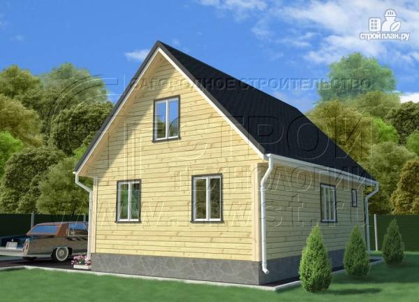 Фото 3: проект дачный трёхфронтонный дом 6х9 м из бруса