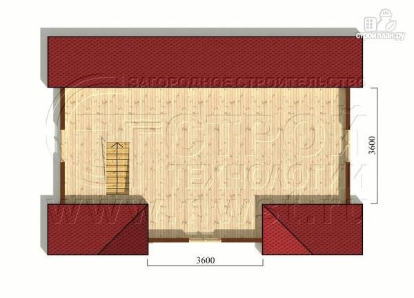 Фото 6: проект дачный трёхфронтонный дом 6х9 м из бруса