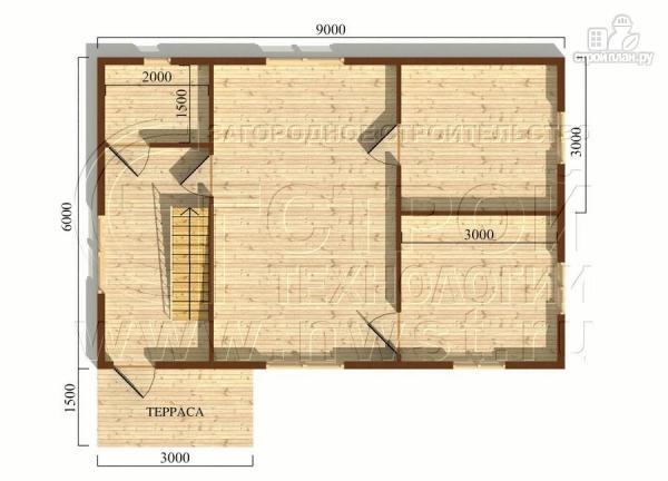 Фото 5: проект дачный трёхфронтонный дом 6х9 м из бруса