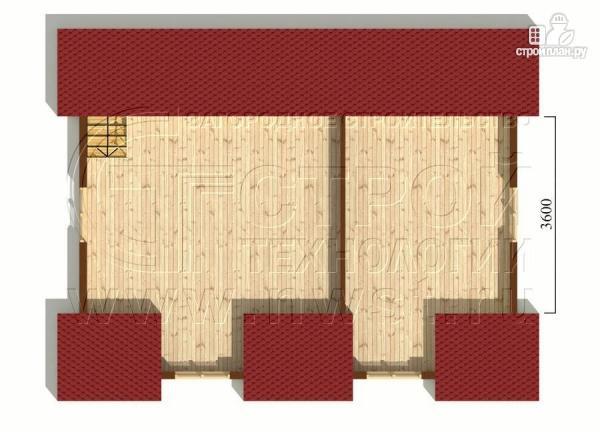 Фото 6: проект дом 6х8 м с мансардой и мезонинами
