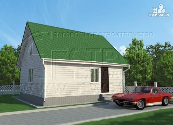 Фото: проект дом 6х8 м с мансардой и мезонинами