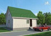 Проект дом 6х8 м с мансардой и мезонинами