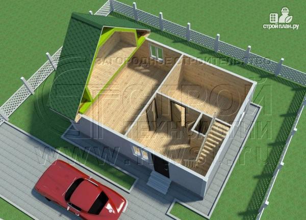 Фото 4: проект дом 6х8 м с мансардой и мезонинами