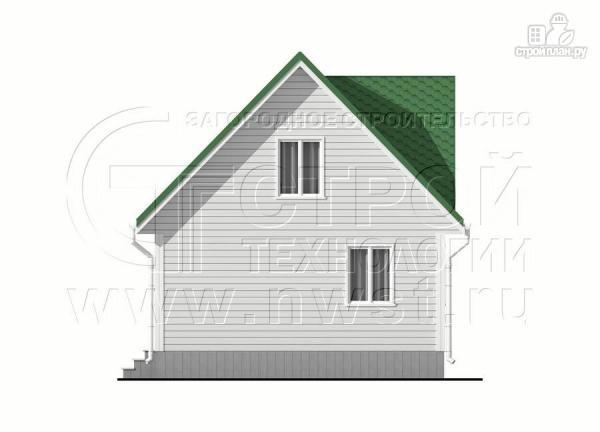 Фото 7: проект дом 6х8 м с мансардой и мезонинами