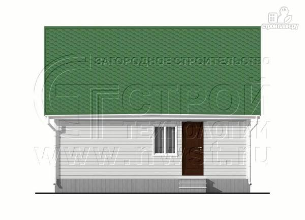 Фото 10: проект дом 6х8 м с мансардой и мезонинами