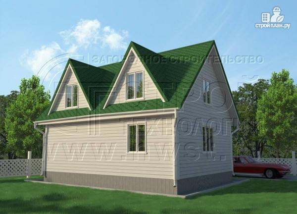 Фото 3: проект дом 6х8 м с мансардой и мезонинами