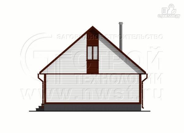 Фото 10: проект дом 6х8 м с мансардой и террасой 24 м2